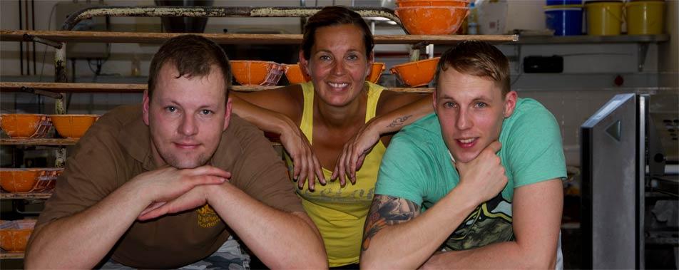 2010: Übergabe der Bäckerei von Brunhild und Lothar Stolle an Tanja, Karsten und Manuel Stolle